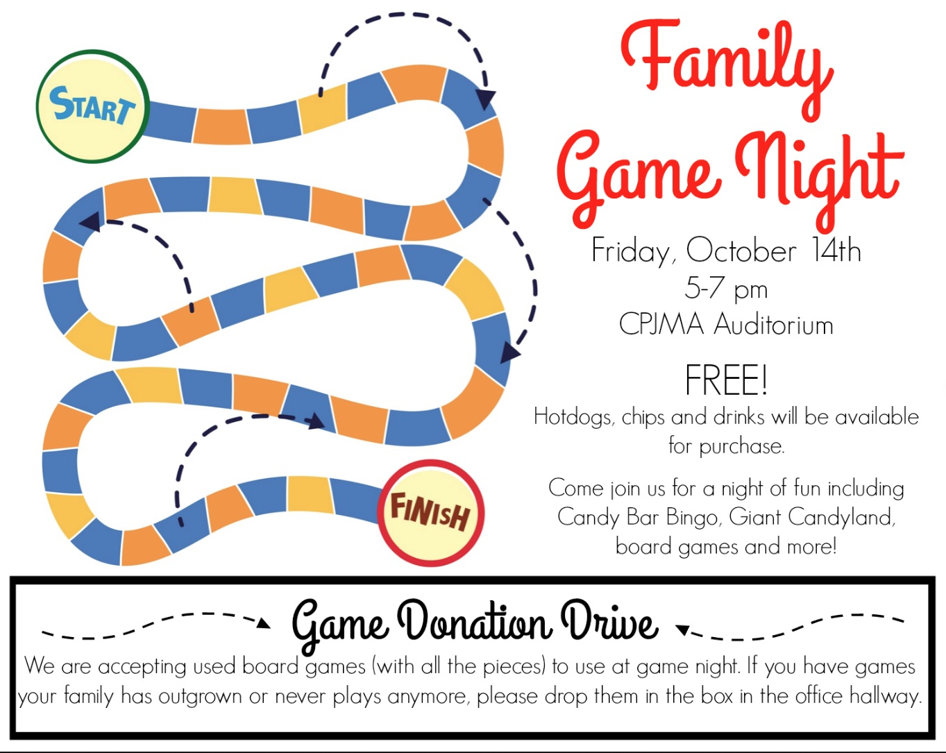 Family Game Night Flyer 2016