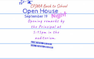 Back To School Night - Open House