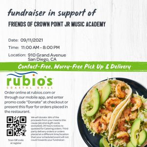 First Dine Out for the 2021/22 School Year! @ Rubio's